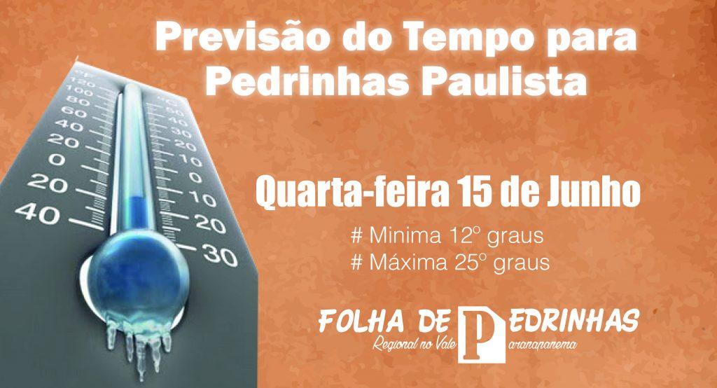 Em Pedrinhas Paulista temperatura chegou a 0º grau